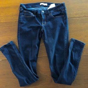 Hollister 7 long jeans jeggings Indigo wash